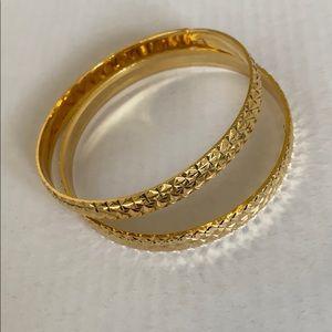 NEW white gold filled bangle bracelets